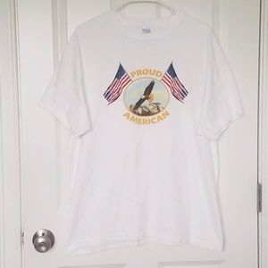 Proud American Tee Mens Size L July 4th